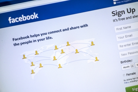 Facebook website displayed on a computer screen Stock Photo - 16532513