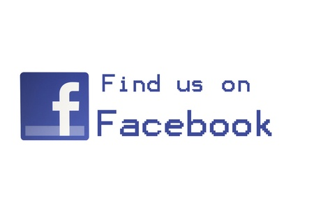 Facebook -  Find us on Facebook  Stock Photo - 16532508