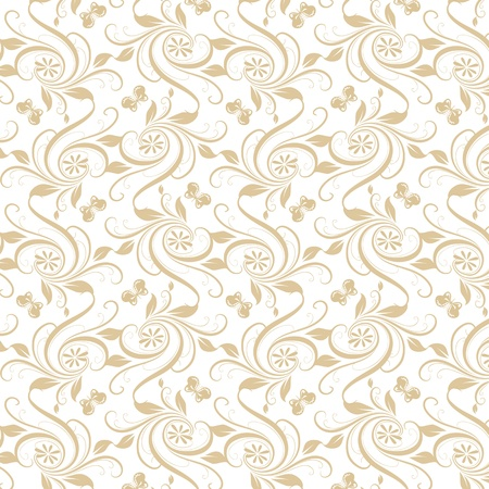 Beautiful background of seamless floral pattern Stock Vector - 16710828