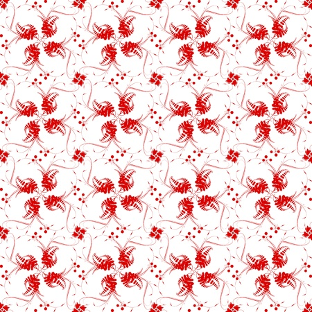 Beautiful background of seamless floral pattern Stock Vector - 16770671