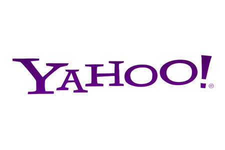 displayed: Yahoo logo displayed on a computer screen