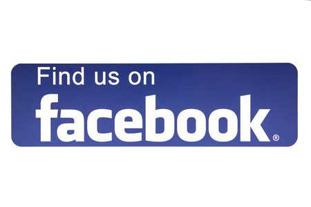 logo informatique: Logo facebook affichée sur un écran d'ordinateur