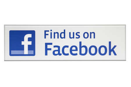 Facebook logo displayed on a computer screen Editorial