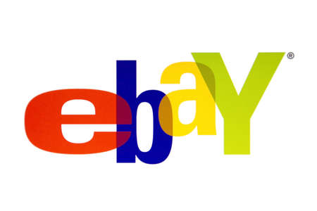 Ebay logo displayed on a computer screen Stock Photo - 16769871