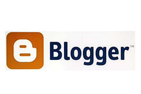 Blogger logo displayed on a computer screen