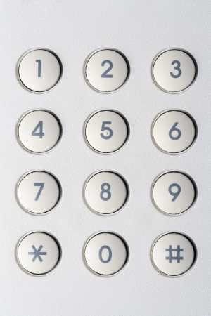 pin entry: Background of securityl numeric pad Stock Photo
