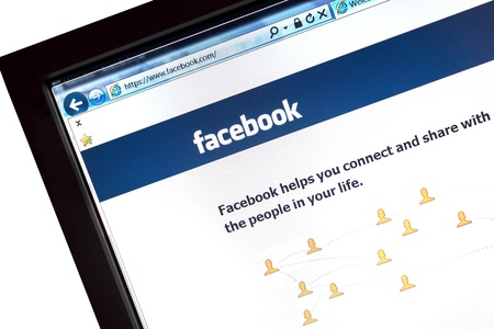 Facebook website displayed on a computer screen Stock Photo - 16896026