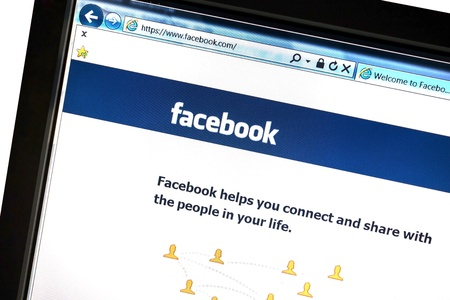 Facebook website displayed on a computer screen Stock Photo - 16919954