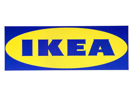 displayed: IKEA logo displayed on a computer screen Editorial
