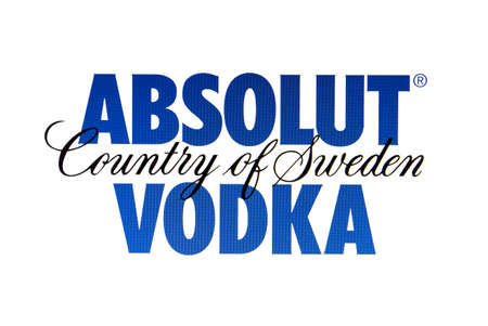 Logo ABSOLUT VODKA affich�e sur un �cran d'ordinateur