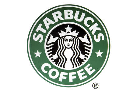 displayed: starbucks logo displayed on a computer screen