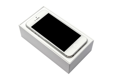 iPhone5 in box isolated on white background
