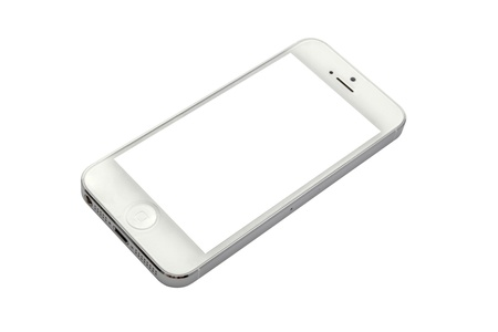 iphone 5 isolated on white background Stock Photo - 17063414