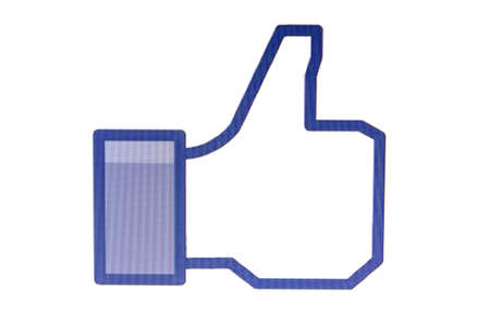 Thumb Up displayed on a computer screen Stock Photo - 17063428