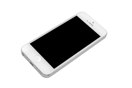 iphone 5 isolated on white background Stock Photo - 17063415