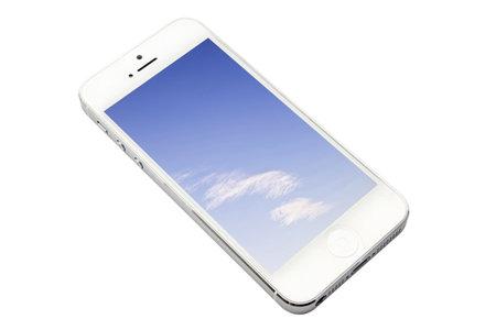 iphone 5 isolated on white background Stock Photo - 17063420