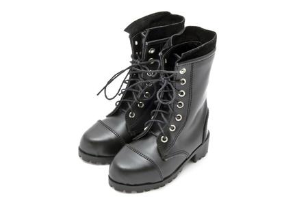 Black fashion boots isolated on white background Stock Photo - 17892214