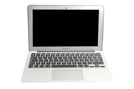 minicomputer: Apple Macbook Air isolated on white