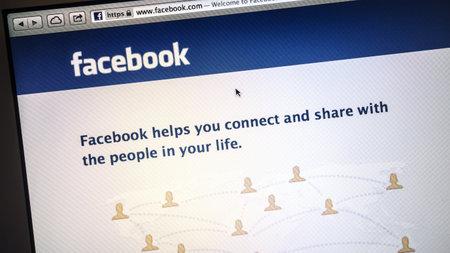 Facebook website display on computer screen Stock Photo - 19388143