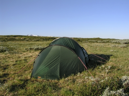 Camping in the mountains of Sweden photo