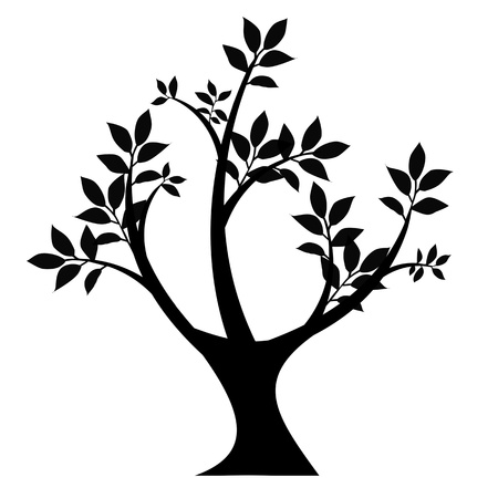 art tree silhouette isolated on white background Stock Vector - 21440044