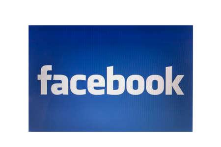 Facebook logo display on computer screen Stock Photo - 22791825