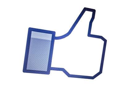 thumb up isolated on white background Stock Photo - 22791826