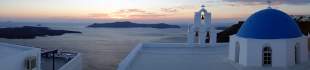 Sunset - Santorini church (Firostefani),Santo rini, Greece  photo