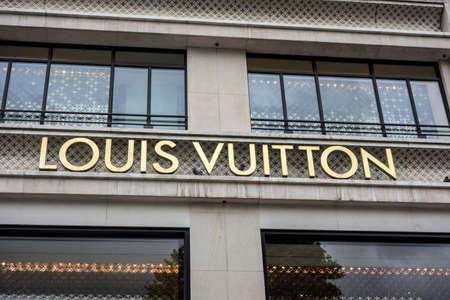 elysees: Louis Vuitton Paris, located on the Champs  Elysees Editorial