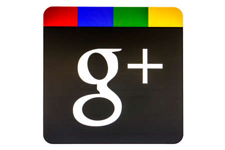 google: Google logotipo de G Plus aislado en fondo blanco Editorial