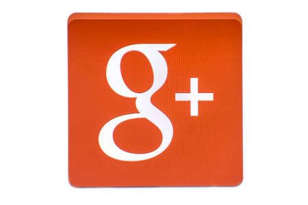 Google G Plus Logo isolated on white background