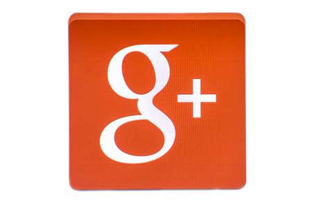 google plus: Google logotipo de G Plus aislado en fondo blanco Editorial