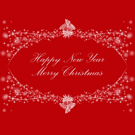 Happy new year and Merry Christmas decoration background Vector