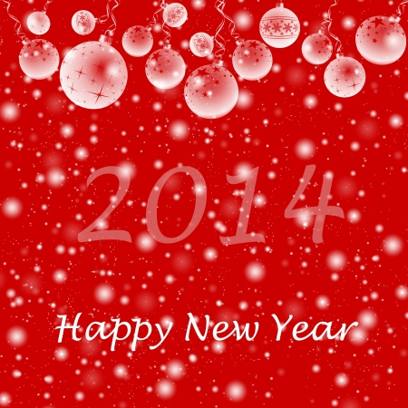 Happy new year decoration background Vector