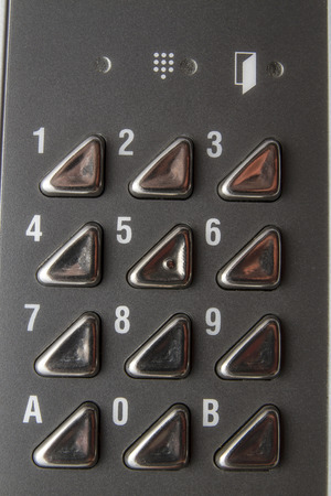 Background of metal Numeric keyboard  photo