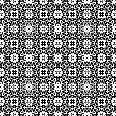 Background of seamless hearts pattern Vector