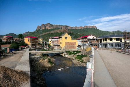 samll: Samll village in the mountain, Sichuan, China