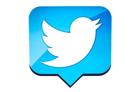 Twitter bird on a computer screen