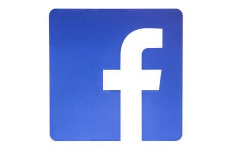 Facebook logo isolated on white background
