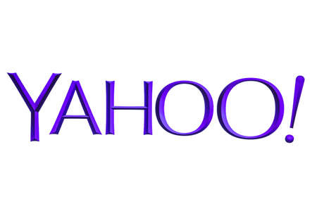 Yahoo logo displayed on a computer screen