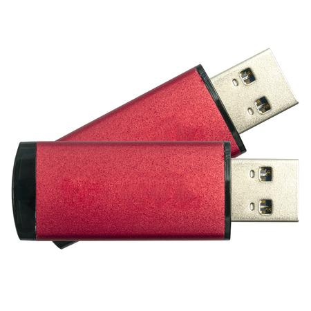 USB Flash Drives isolated on white photo