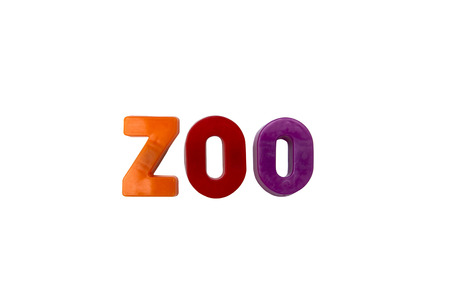 learing: Letter magnets ZOO isolated on white Stock Photo