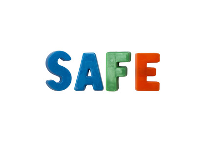 learing: Letter magnets SAFE isolated on white