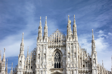 Facade of Cathedral Duomo, Milan, Italy  photo