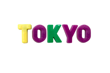 learing: Letter magnets TOKYO isolated on white
