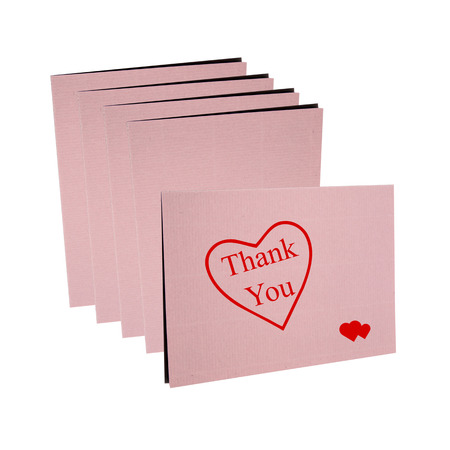 Thanks card isolated on white background photo