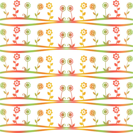 Seamless pattern of spring flowers Vector