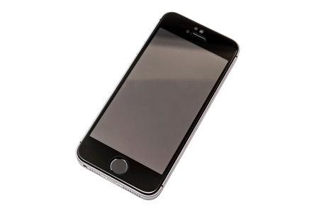 Black iphone 5s isolated on white background