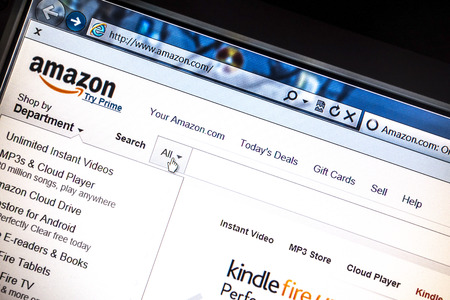 Amazon website displayed on a computer screen