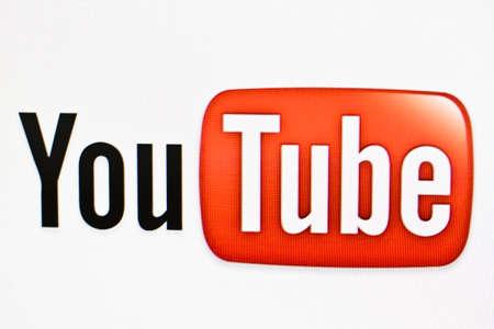 youtube: Youtube logo on a computer screen Editorial